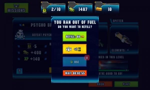 The Fuel menu