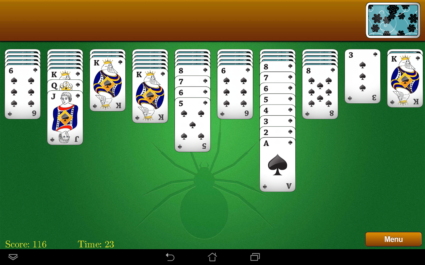 Most Gorgeous Classic Spider Solitaire Androgaming